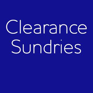 Clearance Sundries