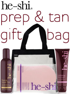 He-Shi Prep and Tan bag - get ready for summer - SAVE 25%