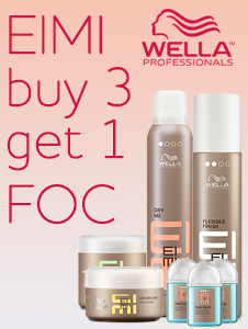 Wella EIMI Deal - Buy any 3 EIMI products, get 1 FOC