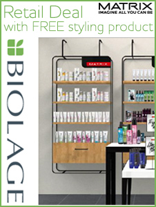 Stock up - any 12 Biolage Retail, FOC Styling + POS
