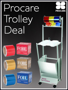 Procare - buy 3 x 225m foils, get 50% off Hostess trolley