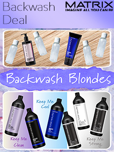 Blushing Blondes Backwash Deal - FOC Sample Bottles & Treatments