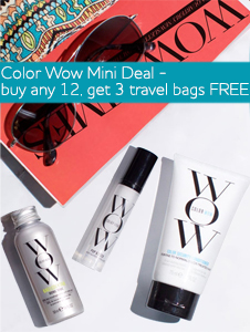 Color Wow Mini Deal - Buy any 12, get 3 travel bags FOC