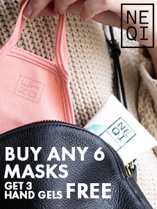 NEQI Face Mask 15% OFF + FOC Hand Gel