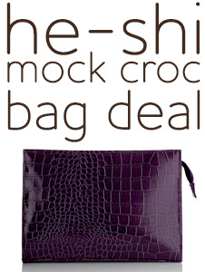 He-Shi Mock Croc Deal - FREE Toiletry Bag with any 2 products