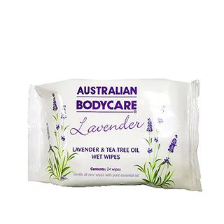 Australian Bodycare Lavender Skin Wipes 24 pack