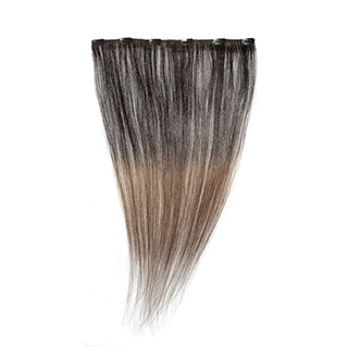 "SILKY STRAIGHT CLIPWEFT 18"" (1B-33) DIP DYE"