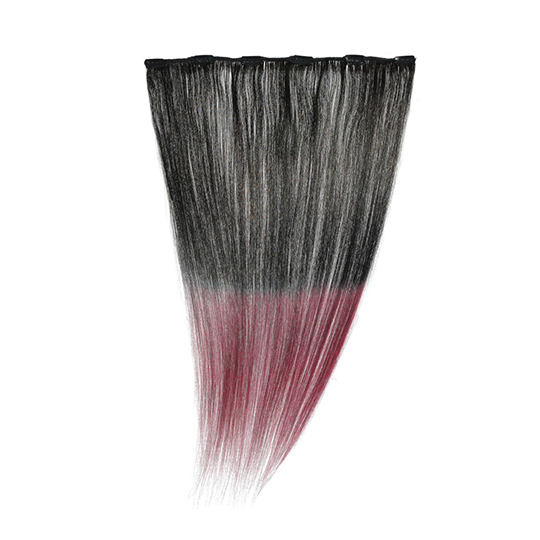 "Silky Straight Clip Weft 18"" (1B-Burg) Dip Dye"