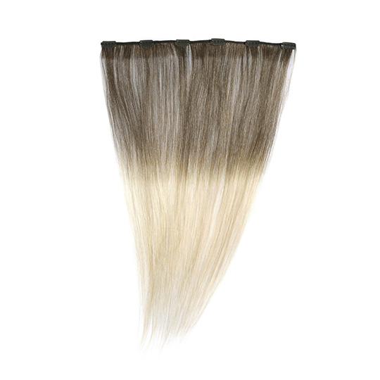 "Silky Straight Clip Weft 18"" 4/24 - Dip Dye"