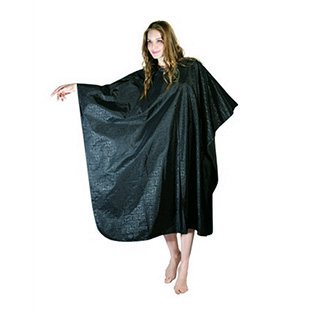 Crewe Alpha Cutting Cape with stud neck fasten- Black