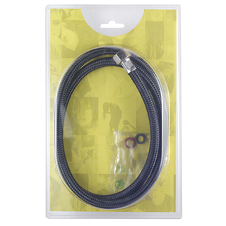 CREWE ORLANDO NYLON SHOWER HOSE - BLACK