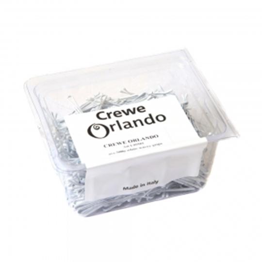 "Crewe Orlando 2"" White Wavey Kirby Grips (Pack Of 500)"