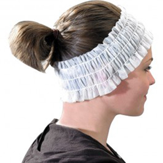 ECONO DISPOSABLE HEADBANDS WHITE (100)
