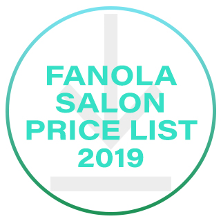 Fanola Salon Price List 2019