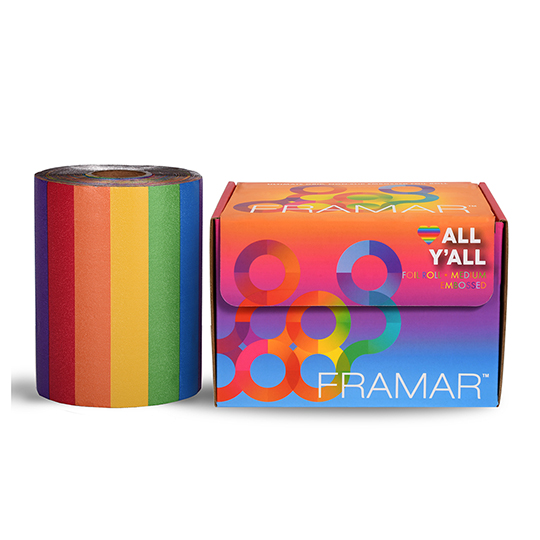 New Framar Rainbow All Y'all Embossed Foil Roll 100m