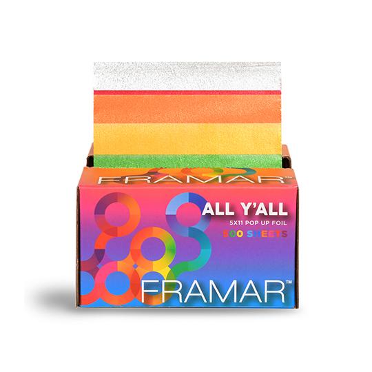 New Framar Rainbow All Y'all Pop Up Foil 5 x 11 - 500 Sheets