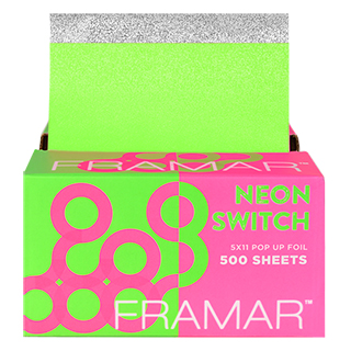 New Framar Embossed Pop Up Foil - Neon Pink/Green 5 x 11 500 Sheets