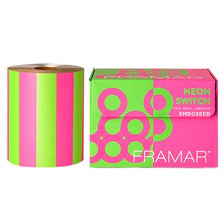 New Framar Neon Pink/Green Embossed Foil Roll (100m)