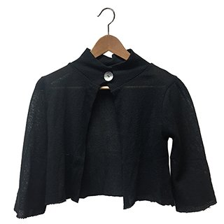 * ONE BUTTON CARDIGAN BLACK