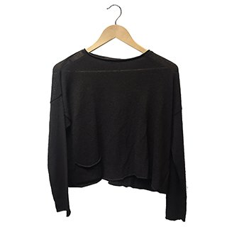 * SLASH NECK JUMPER BROWN
