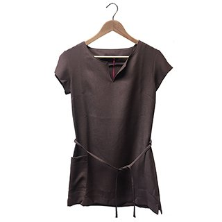 * TUNIC POCKET & TIE BITTER CHOCOLATE (8)