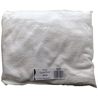 COUCH COVER WITH FACEHOLE WHITE