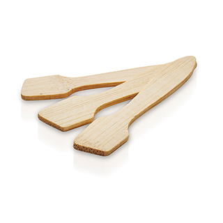 NEW Hive Bamboo Disposable Spatulas 7.5cm (25pk)