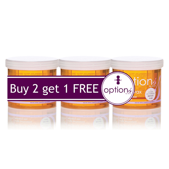 hive options warm honey wax  pack offer