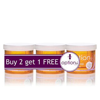 HIVE OPTIONS WARM HONEY WAX (3 FOR 2 PACK OFFER)
