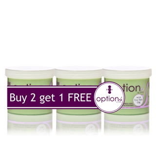 OPTIONS CREME TEA TREE WAX (3 FOR 2 PACK)