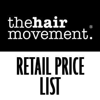 The Hair Movement Retail Price List