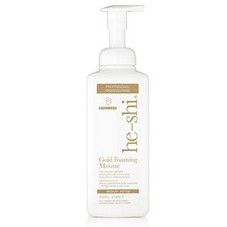 HE-SHI GOLD FOAMING MOUSSE 600ML