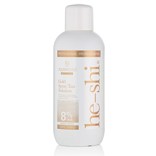 HE-SHI GOLD SPRAYTAN SOLUTION 1LTR