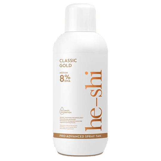 He-Shi Pro Advanced Spray Tan 8% Classic Gold 1Litre