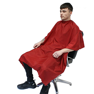Hair Tools Red Barber Gown with poppers