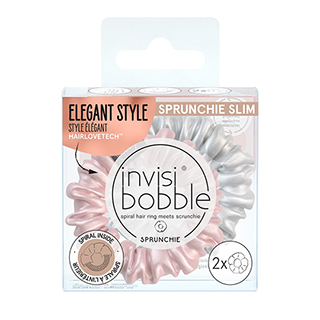 New Invisibobble Slim Sprunchie - Bella Chrome