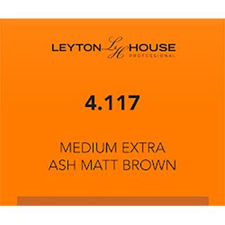 LH SILK PERMANENT 4/117 MED EXTRA ASH MATT BROWN 100ML