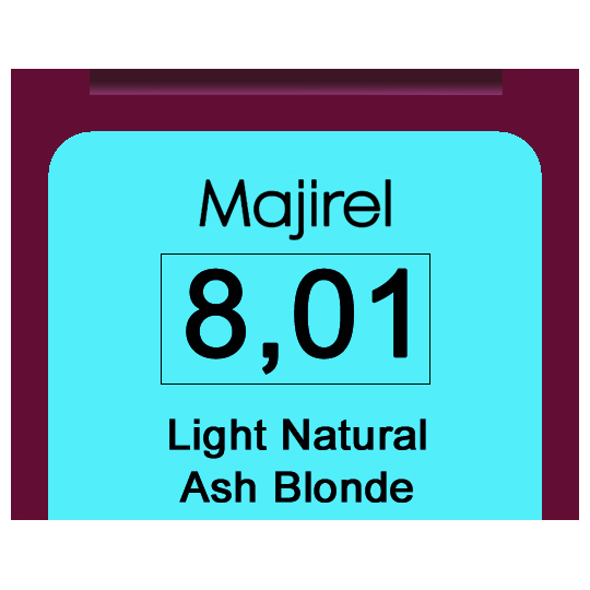 * Majirel 8.01 Light Natural Ash Blonde