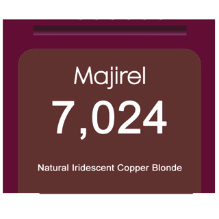 * Majirel French Brown 7,024 Natural Iridescent Copper Blonde