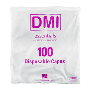 DISPOSABLE BLACK POLY CAPES (100)
