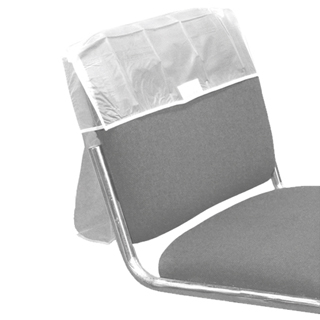 "PVC CLEAR 20"" CHAIR BACK COVER"