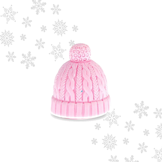 Mad Beauty Let it Snow Beanie Hat Lip Balm - Bubblegum pink