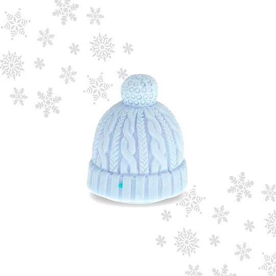 Mad Beauty Let it Snow Beanie Hat Lip Balm - Mint