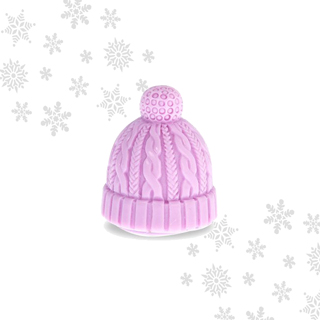 Mad Beauty Let it Snow Beanie Hat Lip Balm Pink - Vanilla