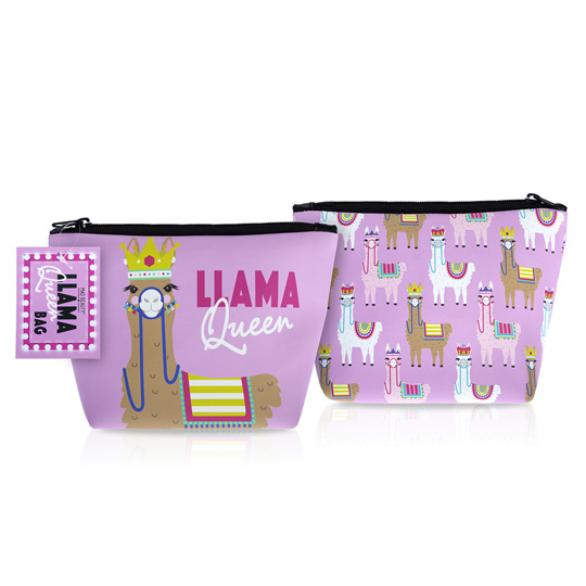 Mad Beauty Llama Queen Cosmetic Bag