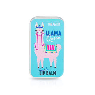 Mad Beauty Llama Queen Lip Balm Slider Tin - Vanilla