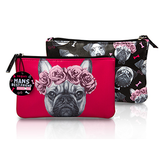 MAD DOGS HANDY BAG - FRENCH BULLDOG FUSCHIA