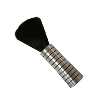 SIBEL MINI NECK BRUSH SILVER