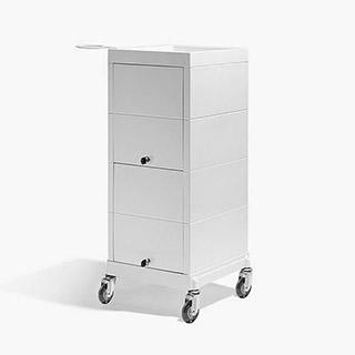 Sinelco Discrete Lockable Trolley - White