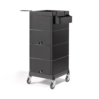 Sinelco Discreet Lockable Trolley - Black
